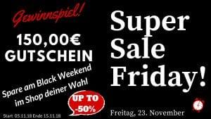 Super Sale Friday Gewinnspiel